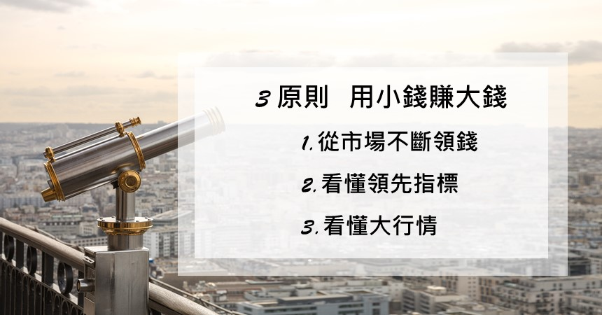期貨基礎:掌握3原則,用小錢賺大錢